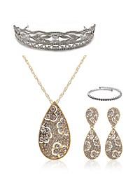 cheap -Women's Rhinestone Imitation Diamond Drop Jewelry Set Body Jewelry / 1 Necklace / Earrings - Fashion / European White Tiaras / Bridal