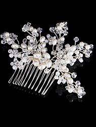 economico -Perle finte Perline filo di rame Fermagli Capelli Stick with Perle di imitazione Dettagli con cristalli 1pc Matrimonio Copricapo