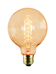cheap -E27 AC220-240V 40W Silk Carbon Filament Incandescent Light Bulbs G95 Around Pearl