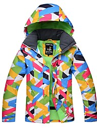 cheap -Women's Ski Jacket Warm Waterproof Thermal / Warm Windproof Skiing Wind Proof Camping / Hiking Back Country Ski/Snowboarding Polyester