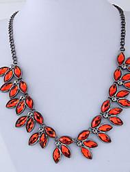 Недорогие -Жен. В форме листа европейский Мода Заявление ожерелья , Резина Сплав Заявление ожерелья , Для вечеринок