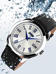 Недорогие -SKMEI Для пары Цифровой Спортивные часы Китайский Календарь Защита от влаги Повседневные часы С двумя часовыми поясами Натуральная кожа