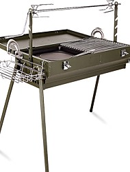 economico -Fornacella da campeggio Fornello da campeggio Attrezzi cucina all'aperto Indossabile Acciaio inossidabile metallo per Campeggio