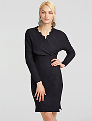 cheap -Women's Simple Bodycon Dress - Solid Colored