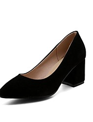 cheap -Women's Shoes Customized Materials Spring Fall Basic Pump Comfort Light Soles Heels Chunky Heel Pointed Toe Closed Toe for Office &