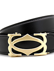 cheap -Men's Party Work Casual Leather Alloy Waist Belt - Solid Colored, Metal
