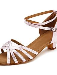 cheap -Women's Latin Shoes Leatherette Heel Cuban Heel Customizable Dance Shoes Pink / Performance