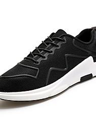 Masculino sapatos Borracha Primavera Outono Conforto Tênis Caminhada Botas Curtas / Ankle Cadarço de Borracha para Branco Preto Cinzento