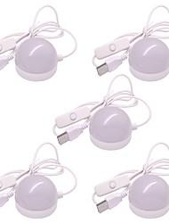 Недорогие -5 шт. LED Night Light Теплый белый Холодный белый Работает от USB С портом USB