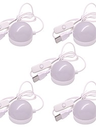 economico -5pcs facile da trasportare usb led luce notturna lampada da lettura per notebook pc caldo / freddo bianco