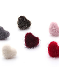 cheap -Women's Heart Fur Stud Earrings Ball Earrings - Sweet Dresswear Heart For Christmas School