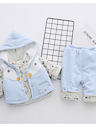 cheap -Infant Girls' Casual Daily / Holiday Print Long Sleeve Cotton Clothing Set