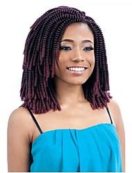 economico -Trecce per capelli a crochet 1pack Trecce di capelli Riccio Curl stretto 8 pollici Soffice Nuovo arrivo Sintetico Black / Dark Auburn