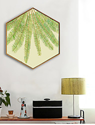 cheap -Botanical Floral/Botanical Illustration Wall Art,PVC Material With Frame For Home Decoration Frame Art Living Room Kitchen Dining Room