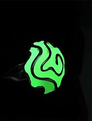 baratos -Mulheres Luminoso Cobre Anel de banda - 1 Margarida Luminoso / Com Iluminação / Fashion Verde Anel Para Bagels / Para Noite