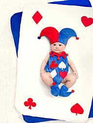 economico -Bambino Completo Unisex Compleanno Quotidiano Cotone Con stampe Per tutte le stagioni Senza maniche Romantico Royal Blue