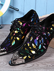 Pánské Obuv Nappa Leather Jaro Podzim Pohodlné Společenské boty Oxfordské pro Ležérní Party Černá