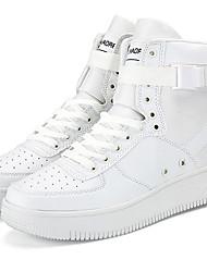 billiga -Herr Cowboy / Western Boots Syntetiskt Höst / Vinter Sneakers Korta stövlar / ankelstövlar Vit / Svart / Röd