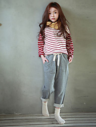 cheap -Girls' Solid Pants, Polyester Winter Cute Active Blue Gray