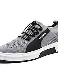 cheap -Men's Shoes Mesh Spring / Fall Comfort Sneakers Black / Gray