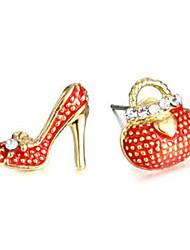 cheap -Women's Mismatch Rhinestone Imitation Diamond Stud Earrings - Mismatch Lovely Package High Heel For Daily