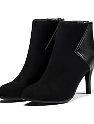 baratos -Mulheres Sapatos Pele Nobuck / Couro Ecológico Outono / Inverno Conforto / Inovador / Botas da Moda Botas Salto Agulha Dedo Apontado