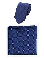 cheap -Men's Polyester Necktie,Simple Casual Jacquard All Seasons Blue