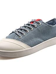 Herrer Sko Gummi Forår Efterår Komfort Sneakers Gang Ankelstøvler Rosette for Hvid Sort Blå Sort/Hvid