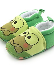 cheap -Baby Shoes Fabric Spring Fall Comfort First Walkers Crib Shoes Flats Gore for Casual Outdoor Green