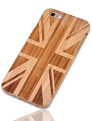 cheap -Case For iPhone 6s Plus / iPhone 6 Plus / Apple iPhone 6 Plus Shockproof Back Cover Flag Hard Bamboo for iPhone 6s Plus / iPhone 6 Plus