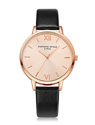 baratos -Mulheres Relógio de Pulso Relógio Casual Chinês Quartzo Relógio Casual PU Banda Luxo Vintage Casual Preta Branco Azul Vermelho Marrom