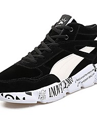 cheap -Men's Shoes Nubuck leather Spring Fall Comfort Athletic Shoes Walking Shoes for Athletic Black