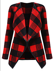 cheap -Women's Plus Size Jacket - Plaid