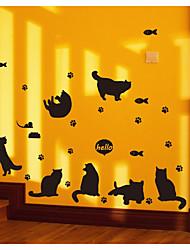 Недорогие -Абстракция Животные Наклейки Простые наклейки Декоративные наклейки на стены, Бумага Украшение дома Наклейка на стену Стена