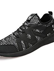preiswerte -Herrn Schuhe Gummi Frühling Herbst Komfort Sportschuhe Walking Booties / Stiefeletten Band-Bindung für Draussen Schwarz Grau