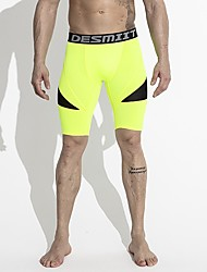 cheap -Men's Running Tight Shorts Running Shorts High Strength Quick Dry Breathable Bottoms Exercise & Fitness Running Polyester Mesh White