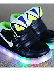 cheap -Boys' Shoes PU Winter Fall Comfort Sneakers Walking Shoes Magic Tape for Casual White Black Green Pink