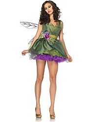cheap -Fairytale Tinker Bell Christmas Dress Kid's Christmas Halloween Festival / Holiday Halloween Costumes Green Christmas Christmas Halloween