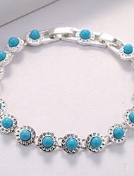 abordables -Femme Chaînes & Bracelets Zircon Strass Classique Elégant Plaqué argent Forme de Cercle Bijoux Mariage Soirée