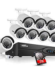 cheap -ANNKE® 8CH CCTV NVR System POE 1080P Video Ourput  2.0M Weatherproof CCTV IP Camera with 2TB