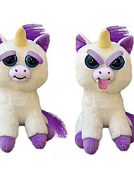 cheap -Animal Stuffed Animal Plush Toy Scary Unicorn Toy Cute Suddenly Turn Hostile Animals Novelty Gift 1pcs