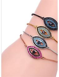 baratos -Mulheres Diamante Pulseiras em Correntes e Ligações - Zircão Pulseiras Preto / Prata / Ouro Rose Para Presente / Diário