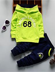 abordables -Ensemble de Vêtements Couleur Pleine Soie Hiver Bleu Vert Orange