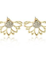 abordables -Femme Fleur Fleur Strass Boucles d'oreille goujon - Fleur / Rétro / Mode Or / Argent Des boucles d'oreilles Pour Quotidien / Travail