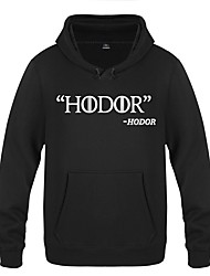 cheap -Hodor Ugly Christmas Sweater / Sweatshirt Men's Festival / Holiday Halloween Costumes White Yellow Red Letter Casual