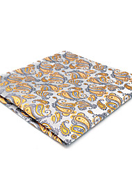 cheap -Men's Cute Party Work Rayon Pocket Squares - Color Block Paisley Jacquard