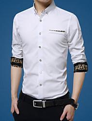 Pánské Jednobarevné Běžné/Denní Coily Košile Jiné Košilový límec Dlouhý rukáv