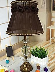 umělecké Ochrana očí Stolní lampa Pro Křišťál 220 v Zelená/kávová