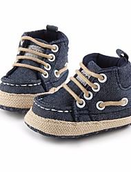 Děti Obuv Plátno Zima Podzim První botičky Bez podpatku pro Ležérní Tmavomodrá Šedá Kávová Světle hnědá