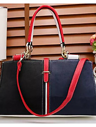 cheap -Women Bags PU Patent Leather Tote Beading Buttons for Casual All Season Dark Blue Red Black White